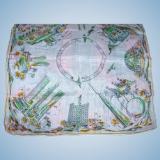 1939 Cotton Worlds Fair Handkerchief