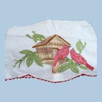 Huck Embroidery Bird House