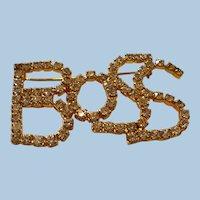 Rhinestone Boss Pin