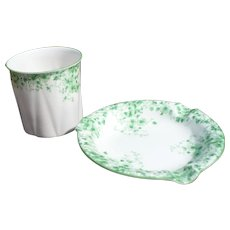 Shelley China Cigarette Ashtray Set