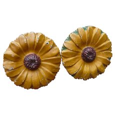 Cast Iron Flower Tie Backs