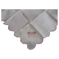 Silk Coronation Hankderchief