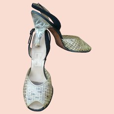 Plastic Lucite Heel Shoes