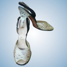 Plastic Lucite Heel Shoes