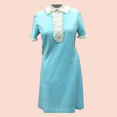 Italian Knit Ruffle Dress