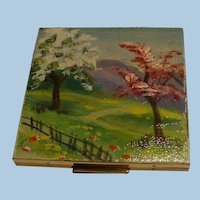 Elgin American Hand Painted Compact