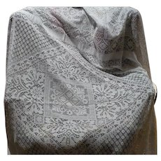 Large Crochet Tablecloth or Coverlet