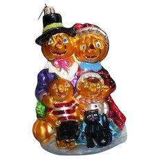Radko Halloween  Pumpkin Family Ornament