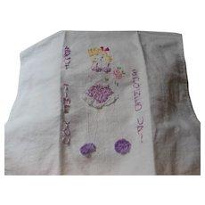 Underwear Girl Hand Towel