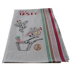 Bee Tasty Embroidered Towel