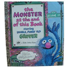 First Edition Monster End of this Book Sesame St Golden Book