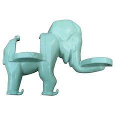 Cast Iron Elephant Glass Holder