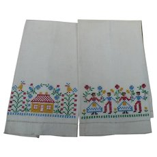Cheerful Embroidered Guest Towels