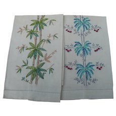 Bamboo Embroidered Towels