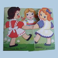Children's Hankie Card Two Hankies