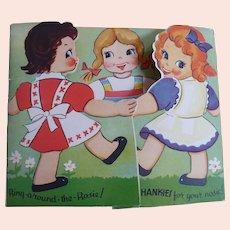 Children's Hankie Card Two Hankies