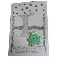 Ceramic Frog Button