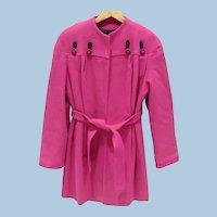 Hot Pink Ladies Coat Jacket