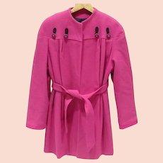 Hot Pink Ladies Coat