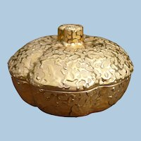 Weeping Gold Covered Candy  Dish