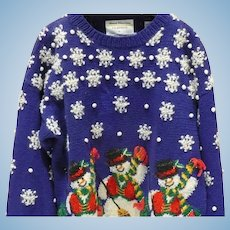 Marisa Christina Snowman Holiday Sweater