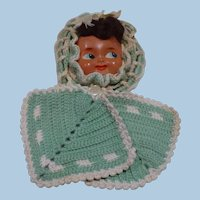 Crochet Doll Face Pot Holders