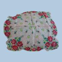 1950's Rose Bouquet Handkerchief