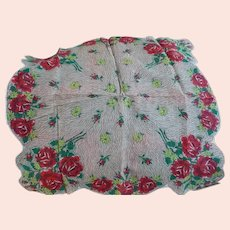 1950's Rose Bouquet Handkerchief