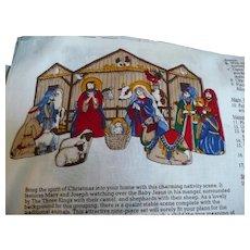 Nativity Creche Stitch & Stuff Fabric Panel