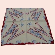1940's Initial W Handkerchief