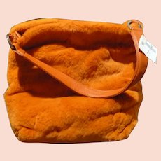 Orange Fur Purse Landau