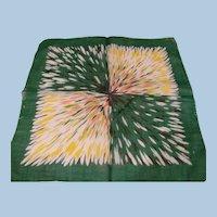 1950's Color Burst Handkerchief