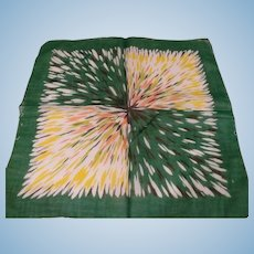 1950's Color Burst Handkerchief