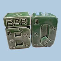 1950's Bar B Que Salt & Pepper Set