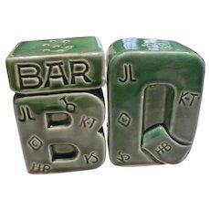 1950's Bar B Que Salt & Pepper Set