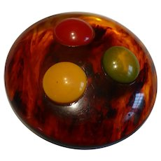 Large Root beer Bakelite Button 3 Colors