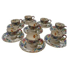 Royal Cauldron Victoria Cups & Saucers