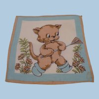 Child's Handkerchief Bear with Rake