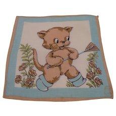Child's Handkerchief Bear with Rake