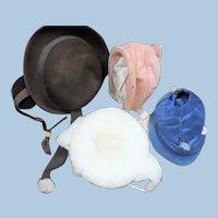 Four Vintage Children's Hats