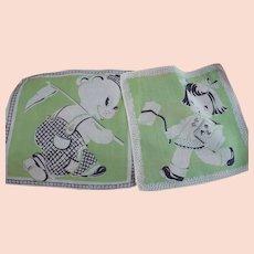 Two Children's Handkerchiefs
