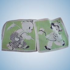 Two Children's Handkerchiefs