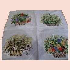 Flower Baskets Handkerchief