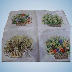 Flower Baskets Handkerchief