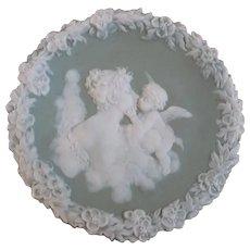 Jasperware Green Angel Plate