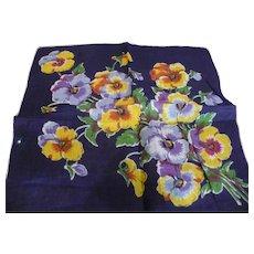 Pansies Handkerchief