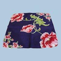 1950's Poppy Handkerchief