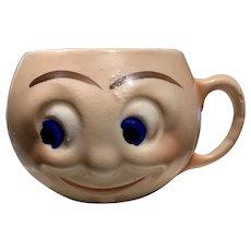 Czech Pottery Small Smiling Face Mug