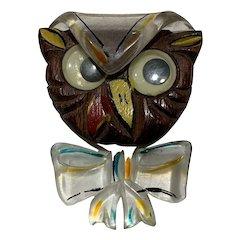 Google Eye Owl Pin