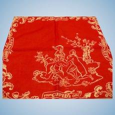 Old Fashion Valentine Handkerchief